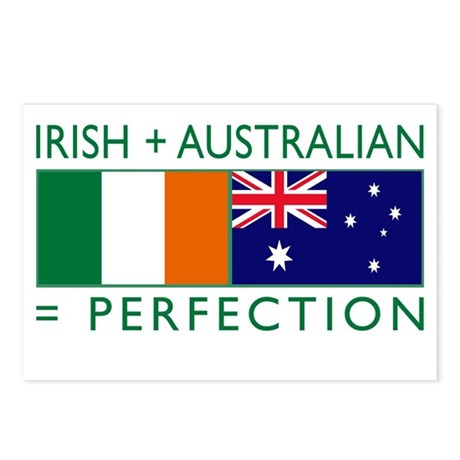 Irish Australian flags Postcards (Package of 8)