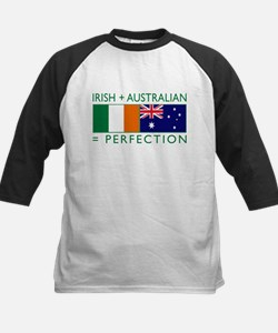 Irish Australian flags Kids Baseball Jersey