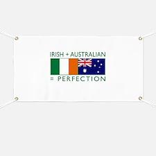 Irish Australian flags Banner