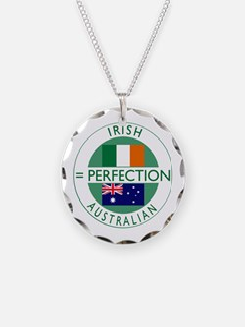 Irish Australian flags Necklace