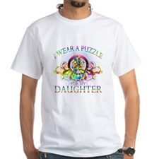 I Wear A Puzzle for my Daughter (floral) Shirt