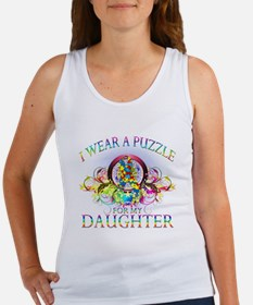 I Wear A Puzzle for my Daughter (floral) Women's T