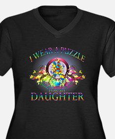 I Wear A Puzzle for my Daughter (floral) Women's P