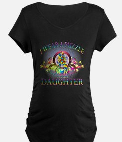 I Wear A Puzzle for my Daughter (floral) T-Shirt