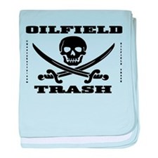Oil Field Trash,Skull baby blanket,Oil,Gas,Gift