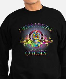 I Wear A Puzzle for my Cousin (floral) Sweatshirt