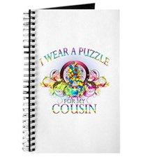 I Wear A Puzzle for my Cousin (floral) Journal