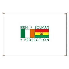 Irish Bolivian flags Banner