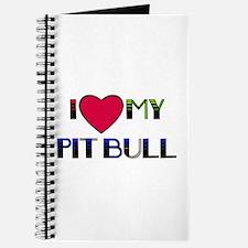 I LOVE MY PIT BULL Journal