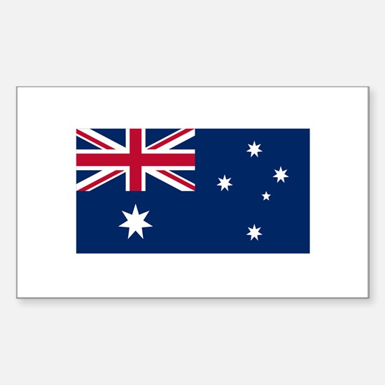 Australian Flag Sticker (Rectangle)
