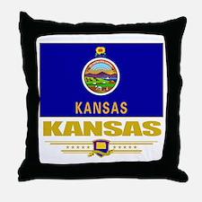 Kansas Pride Throw Pillow