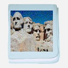 Mount Rushmore Photo Montage baby blanket