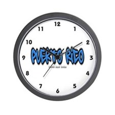 Puerto Rico Graffiti Wall Clock