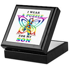 I Wear A Puzzle for my Son Keepsake Box