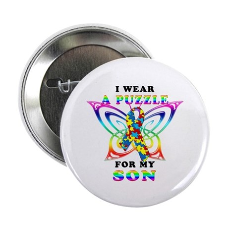"I Wear A Puzzle for my Son 2.25"" Button (10 pack)"