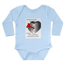 anti Valentine's Day Long Sleeve Infant Bodysuit