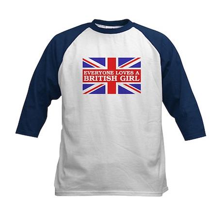 Everyone Loves a British Girl Kids Baseball Jersey