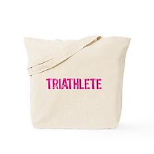 Triathlete - pink Tote Bag