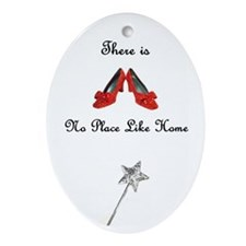 There is No Place Like Home Oval  Ornament