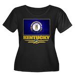 Kentucky Pride Women's Plus Size Scoop Neck Dark T