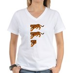 Two and a Half Tigers Women's V-Neck T-Shirt