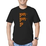 Two and a Half Tigers Men's Fitted T-Shirt (dark)