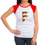 Two and a Half Tigers Women's Cap Sleeve T-Shirt
