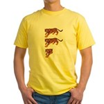 Two and a Half Tigers Yellow T-Shirt