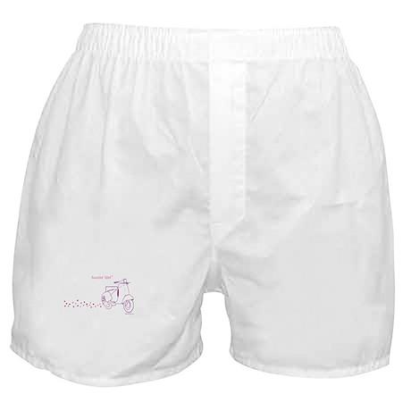 Scootin' Girl Dots Design Boxer Shorts