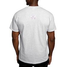 Scootin' Girl Dots Design Ash Grey T-Shirt
