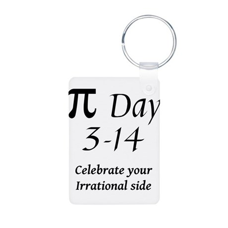 Pi Day - March 14 Aluminum Photo Keychain