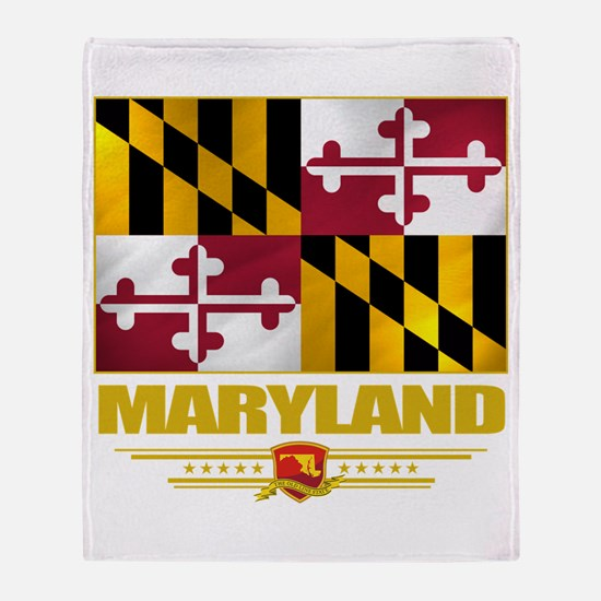 Maryland Pride Throw Blanket