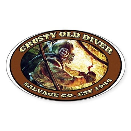 CRUSTY OLD DIVER SALVAGE CO. Sticker