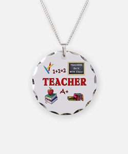 Teachers Do It With Class Necklace Circle Charm