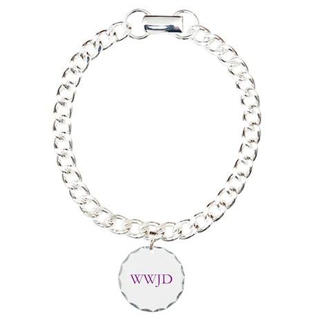 WWJD 2 Charm Bracelet, One Charm