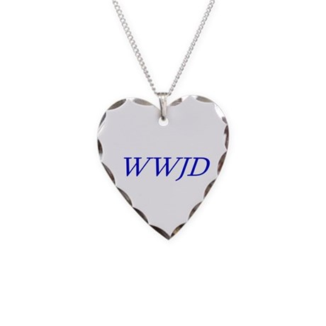 WWJD Necklace Heart Charm