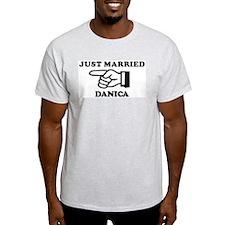 Just Married Danica Ash Grey T-Shirt