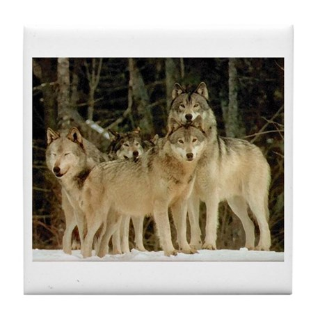 Wolf Pack Tile Coaster