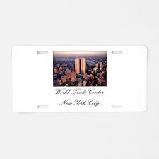 WTC at Sunrise Aluminum License Plate