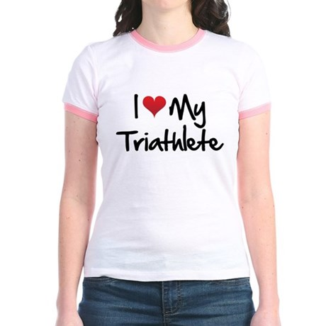 I heart my triathlete Jr. Ringer T-Shirt