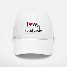 I heart my triathlete Baseball Baseball Cap