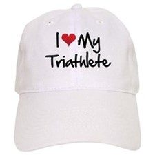 I heart my triathlete Baseball Cap