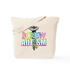 Screw Autism Tote Bag