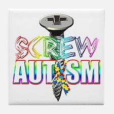 Screw Autism Tile Coaster