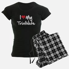 I heart my triathlete pajamas