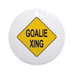 Goalie Xing Ornament (Round)