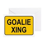 Goalie Xing Greeting Cards (Pk of 10)