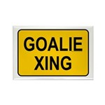 Goalie Xing Rectangle Magnet