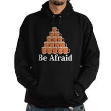 Be Afraid Logo 7 Hoodie Design Front Center