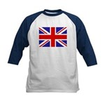 British Flag Kids Baseball Jersey